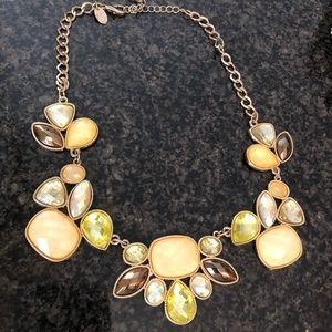Charming Charlie's gold statement necklace 18.5in